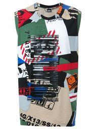 'Barcode Plastisol Print on Papertape' vest KTZ