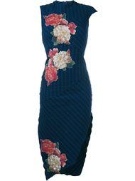 Patterned Asymmetric Sleeveless Dress Awake