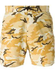 шорты для плавания с камуфляжным принтом  Saint Laurent