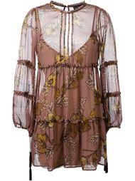 короткое платье с цветочным принтом For Love And Lemons