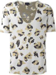 футболка с леопардовым принтом Lanvin