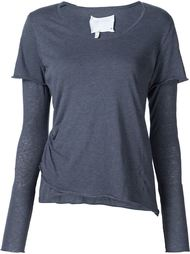 overlay T-shirt  Greg Lauren