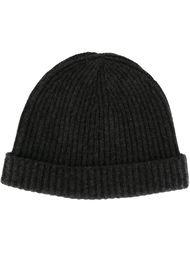 шапка ребристой вязки N.Peal