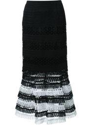 юбка с вышивкой макраме Jonathan Simkhai
