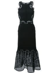 сетчатое платье с вышивкой Jonathan Simkhai