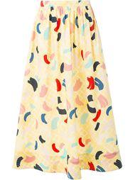 юбка с принтом мазков кисти Rossella Jardini