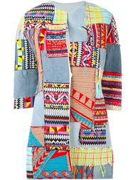 three-quarters sleeve patchwork jacket Ava Adore