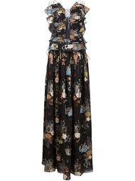 длинное платье с цветочным принтом Chloé