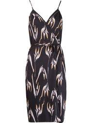 платье на бретельках с абстрактным принтом   Andrea Marques