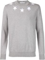 свитер с заплатками в форме звезд Givenchy