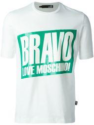 футболка с принтом 'bravo' Love Moschino