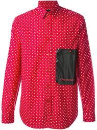 рубашка с мелким узором в горох Love Moschino
