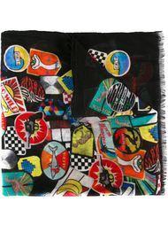 шарф с лоскутным принтом  Saint Laurent