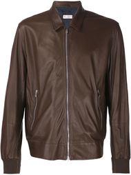 кожаная куртка с перфорацией Brunello Cucinelli