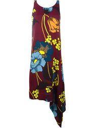 асимметричное платье с цветочным принтом Marni