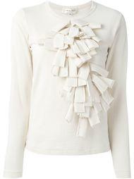 свитер с рюшами Comme Des Garçons