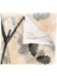 платок с принтом ветки Brunello Cucinelli
