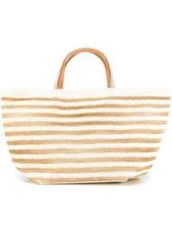плетеная сумка-тоут в полоску Ermanno Scervino