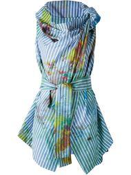 полосатый драпированный топ Vivienne Westwood Anglomania