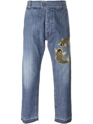 декорированные джинсы  Christian Pellizzari