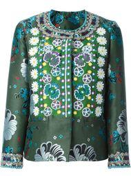 жаккардовый пиджак с цветочной вышивкой Etro