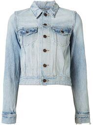 джинсовая куртка с потертой отделкой Saint Laurent