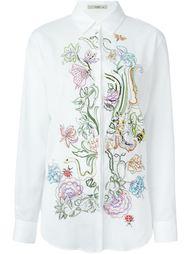 рубашка с цветочной вышивкой Etro