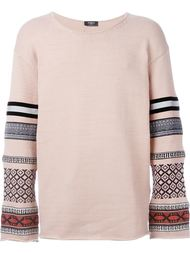 свитер с контрастными рукавами    Ports 1961