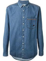 джинсовая рубашка с нагрудным карманом  MSGM