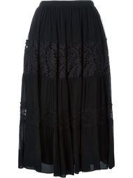 кружевная юбка с панельным дизайном  Nº21