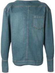 джинсовая рубашка с вырезом-лодочкой  Juun.J