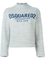 укороченная толстовка с логотипом  Dsquared2