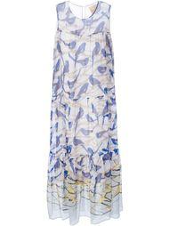 платье макси с принтом птиц Erika Cavallini