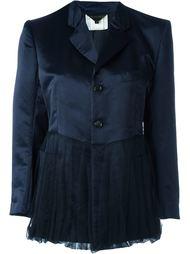 атласный пиджак с баской Comme Des Garçons Vintage