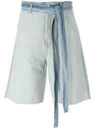 джинсовые шорты с поясом MSGM