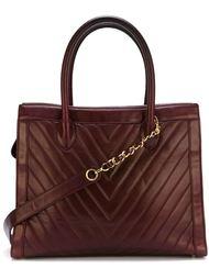 сумка-тоут с узором-ёлочкой Chanel Vintage