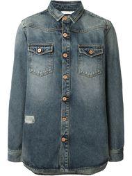 джинсовая рубашка с потертой отделкой Off-White
