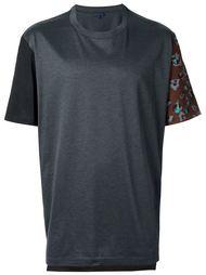 футболка с цветочным принтом на рукавах Lanvin
