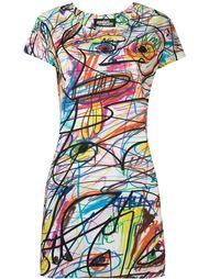 платье-шифт с принтом Jeremy Scott