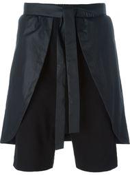 overlay drop crotch shorts D-Gnak
