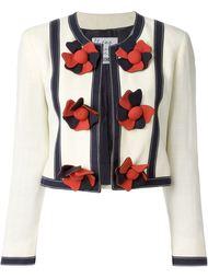 Укороченный пиджак без воротника Moschino Vintage