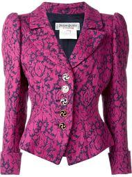 приталенный жаккардовый пиджак Yves Saint Laurent Vintage