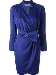 платье с запахом и поясом Thierry Mugler Vintage