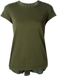 плиссированная футболка  Sacai