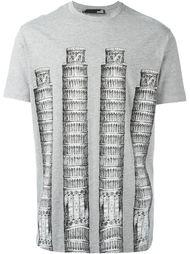 футболка с принтом Пизанской башни  Love Moschino