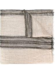 полосатый шарф с необработанными краями Brunello Cucinelli