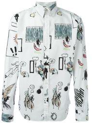 рубашка с принтом граффити Paul Smith Jeans