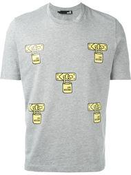 футболка с принтом замочков Love Moschino