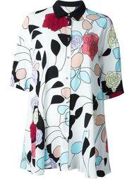 блузка с принтом роз  Antonio Marras