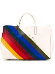 полосатая сумка-тоут Anya Hindmarch